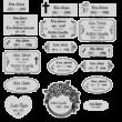 411. Sírjelző tábla keresztre, fejfára