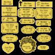 31. Sírjelző tábla keresztre, fejfára