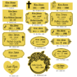 311. Sírjelző tábla keresztre, fejfára