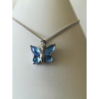 Kék üveg pillangó medál - kegyeleti ékszer
