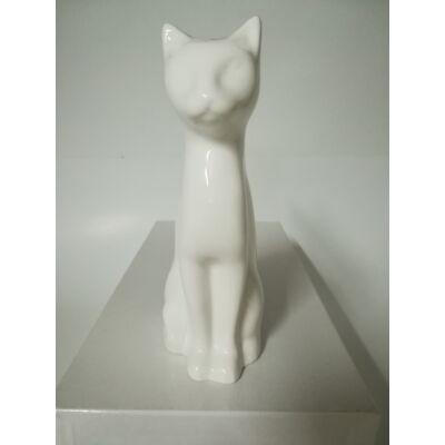 Kicsi macska kerámia ereklyetartó, mini urna