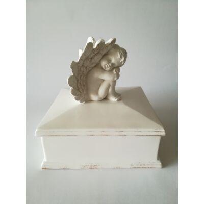 Különleges, angyalkás urna fehér színben