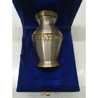 Relikviatartó, mini urna ezüst szürke színű