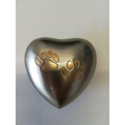 Kettő tappancsos szív mini urna - relikviatartó