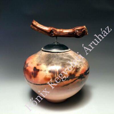 Egyedi kerámia urna különleges fedéllel