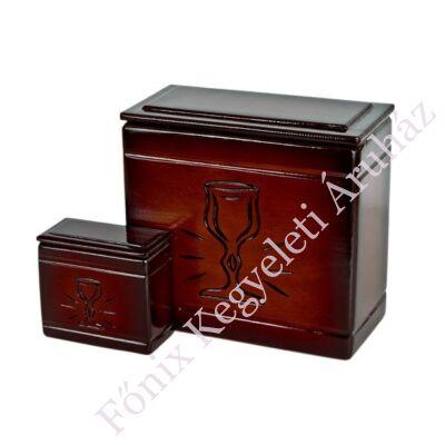 Fa iker mini urna kehely mintával sötét