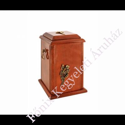 Fa álló urna, kálával, kereszttel - barna
