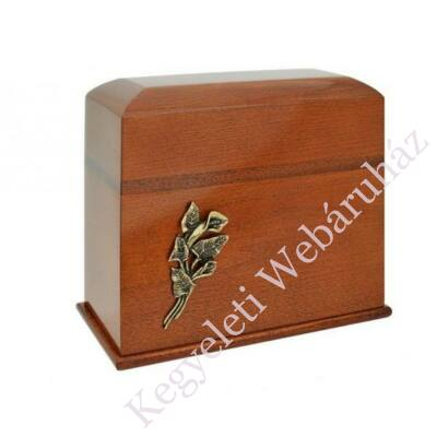 Fa álló urna, kálával - barna