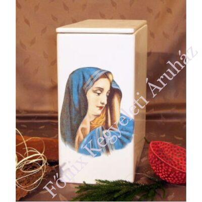 Fehér iker urna Máriával