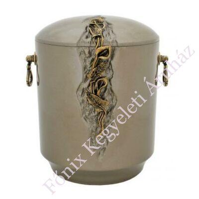 Kő kompozit urna kálás, szürke tónusú