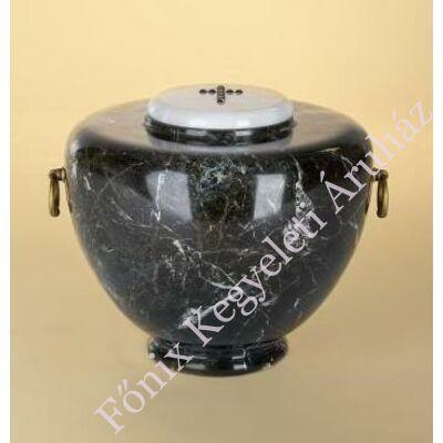 Márvány (onyx) urna amfora alakú fekete
