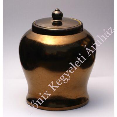 Antűr bronz színű kerámia urna