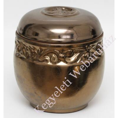 Antik bronz vésett kerámia urna