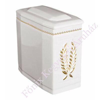 Fehér iker urna arany koszorúval