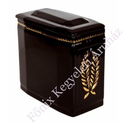 Fekete iker urna arany koszorúval