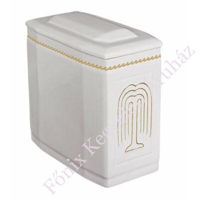 Fehér iker urna arany fűzfával