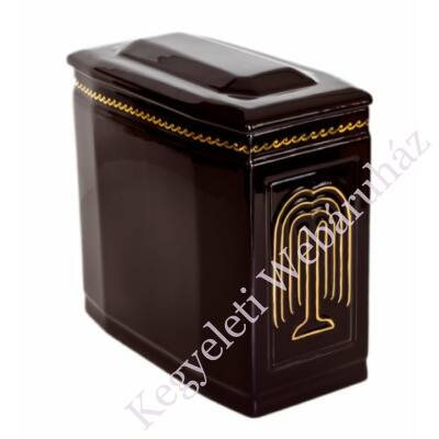 Fekete iker urna arany fűzfával
