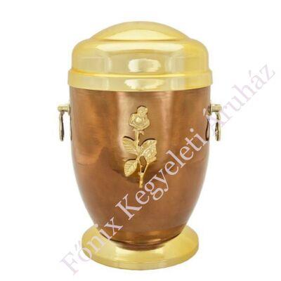 Rózsás barna-arany fém urna