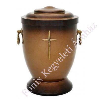 Keresztes barna fém urna