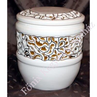Bella áttört kerámia urna arany béléssel