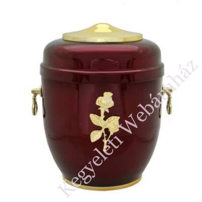 Rózsás bordó fém urna