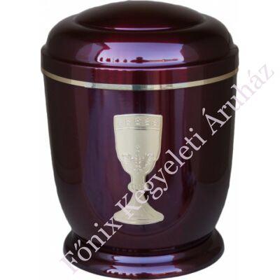 Bordó, kelyhes fém urna