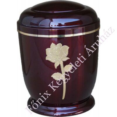 Bordó, rózsás fém urna