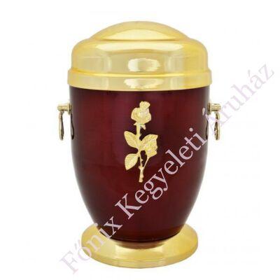 Rózsás bordó-arany fém urna