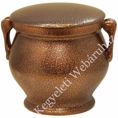 Bronz színű füles urna