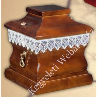 Négyszögletű fa urnakoporsó-dió