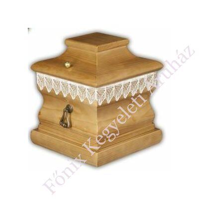 Négyszögletű fa urnakoporsó-mogyoró