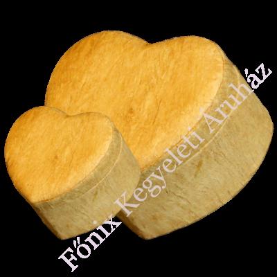 Fatörzs mintájú, szív alakú urna