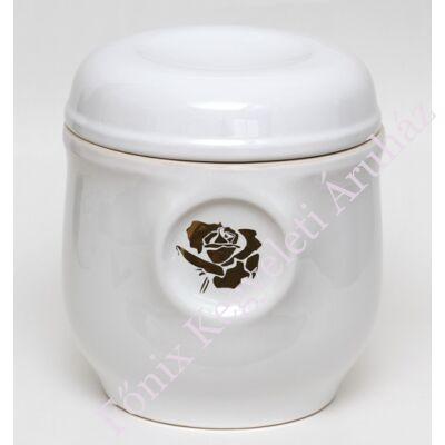 Fehér ablakos urna arany rózsával