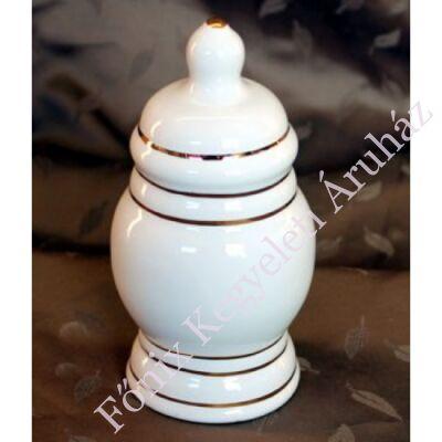 Fehér csíkos mintás mini urna