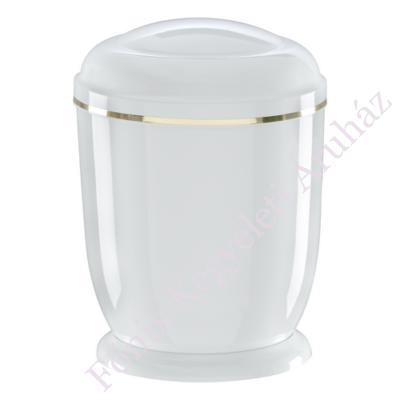 Fehér, fém urna
