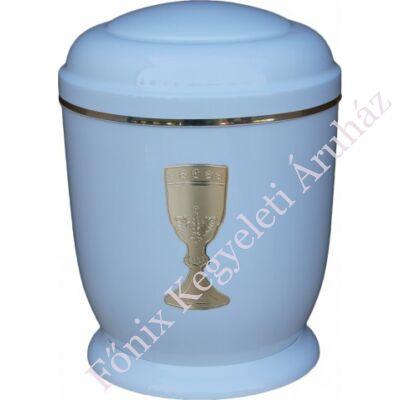 Fehér, arany kelyhes fém urna