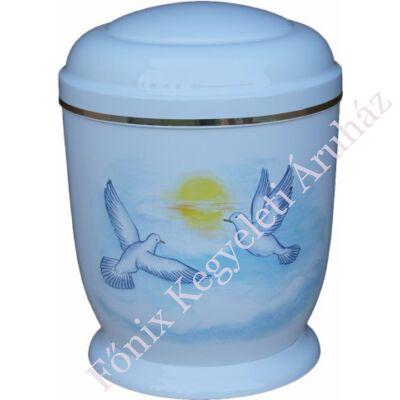 Fehér, galambos fém urna