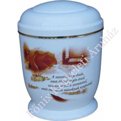 Fehér, idézetes fém urna
