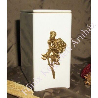 Iker fehér arany domború rózsa urna