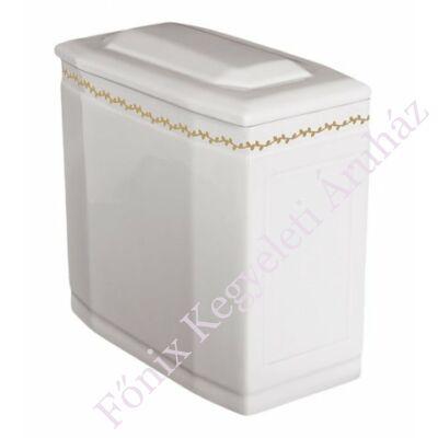 Fehér iker urna szolíd arany sordísszel
