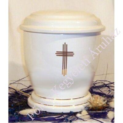 Fehér urna hármas kereszttel