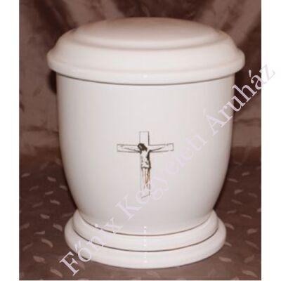 Fehér urna feszülettel