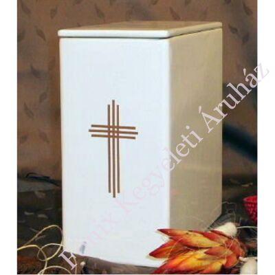 Iker fehér urna arany hármas kereszt