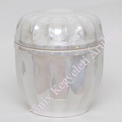 Fehér lüszter kerámia urna