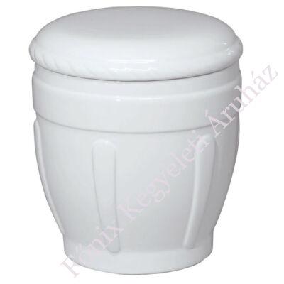 Fehér mázas oszlopos urna