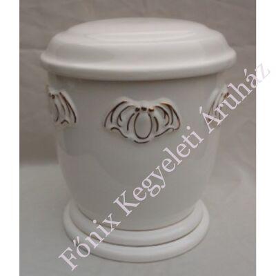 Fehér mázas urna arany színű pillével