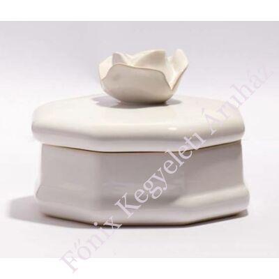 Fehér rózsás ereklyetartó, mini urna