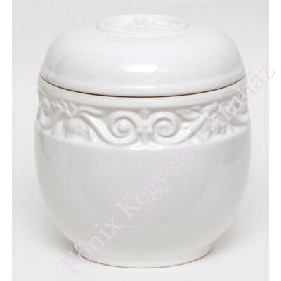 Fehér vésett kerámia urna