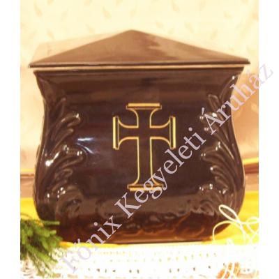Fekete négyszög urna - keresztes