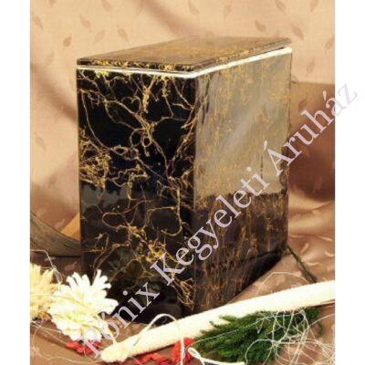 Iker fekete kerámia urna arany mintás